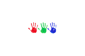 Handprints are one way we play and document this time in the lives of your children